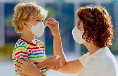 χρήση της μάσκας στα παιδιά